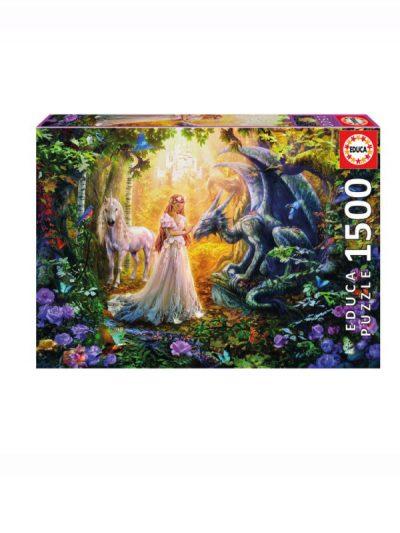 Educa - 1500 piece jigsaw - princess & dragon