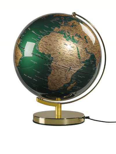 Wild & Wolf Globe - green & brass