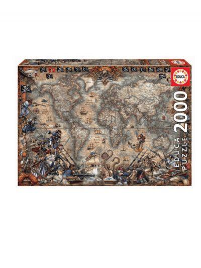 Educa - 2000 piece jigsaw - pirate map