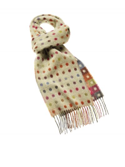 Bronte by Moon - multi spot scarf - sage