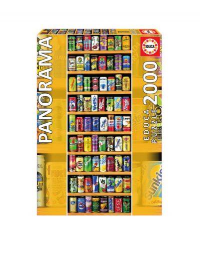 Educa - 2000 piece jigsaw - soft drinks cans
