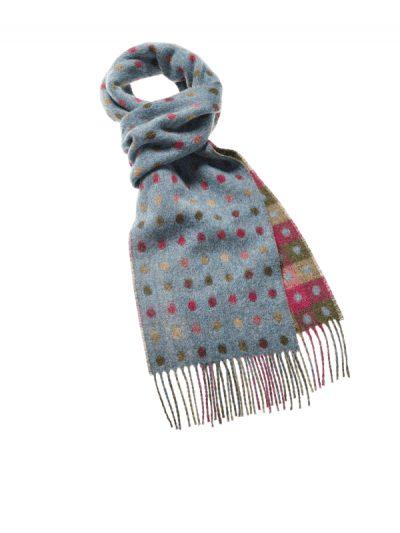 Bronte by Moon multi spot scarf - teal