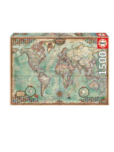 Educa - 1500 piece jigsaw - political world map
