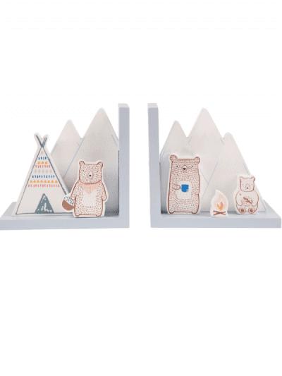 Sass & Belle bear camp bookends