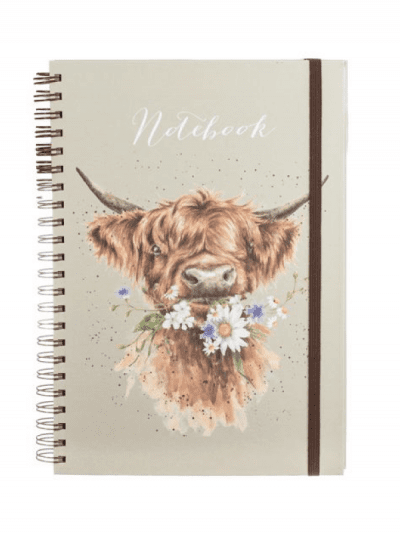 Wrendale highland cow a4 notebook