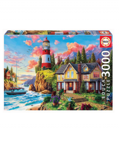 Educa Lighthouse and Cottage 3000 piece jigsaw