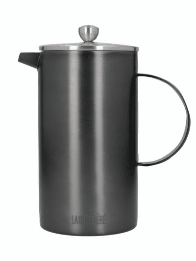 La Cafetiere 8 cup cafetiere gunmetal grey