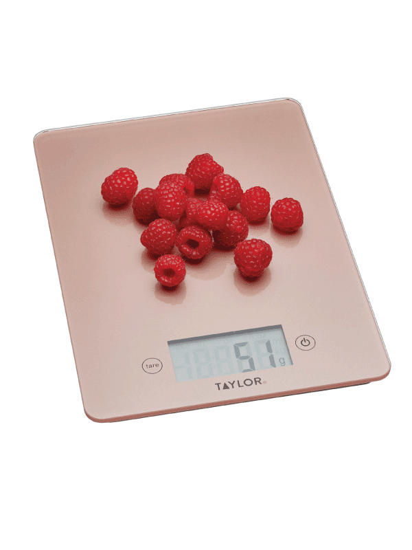 Taylors 5kg digital scales - rose gold