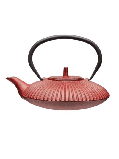 Le Express cast iron teapot - red