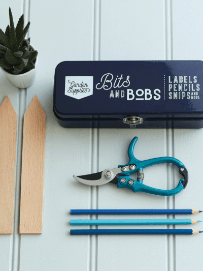 Burgon & Ball Store Tin Blue