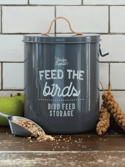 Burgon & Ball Bird Food tin Charcoal