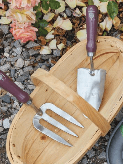 Burgon & Ball Trowel and fork set passiflora