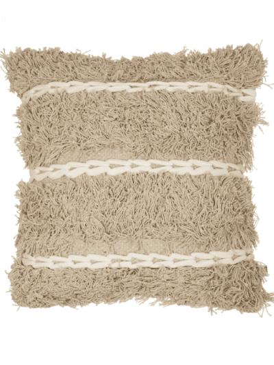 blanca coconut white and sand colour cushion