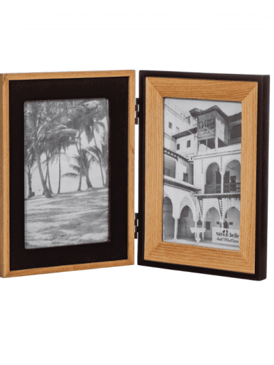 wooden and black double standing frame, homeware