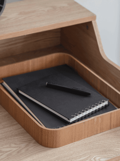 garden trading wooden desk in-tray