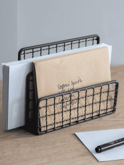 garden trading wire letter rack