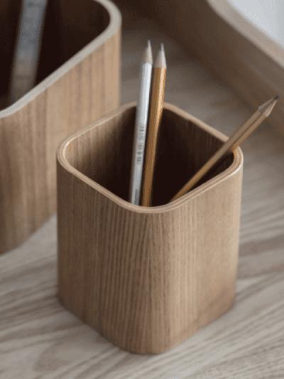 garden trading wooden pencil pot