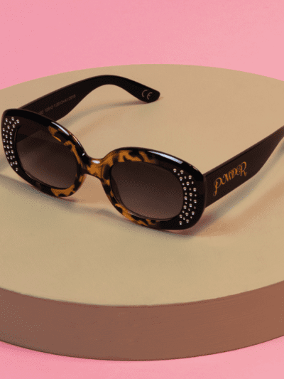 powder tortoise shell and diamonte sun glasses
