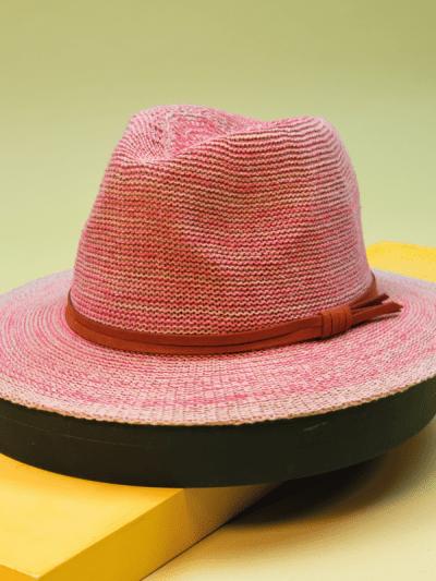 powder pink summer hat