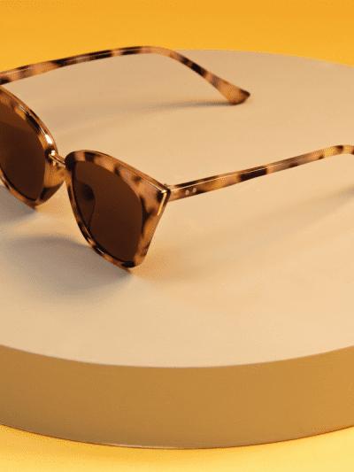 powder tortoise shell sunglasses