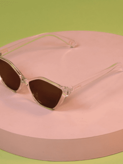 powder clear plastic sunglasses