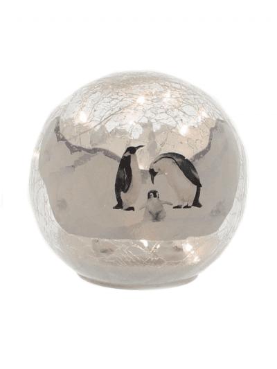 festive penguin crackle ball