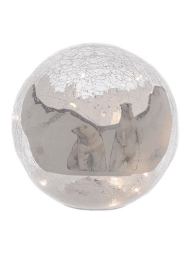 festive polar bear crackle ball