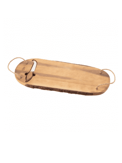 Cartwright and butler wood cheese board and knife