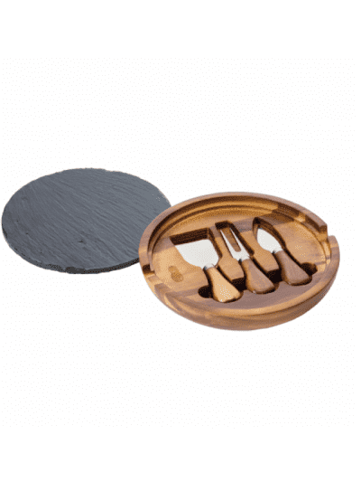 Cartwright and butler round cheese board and slate