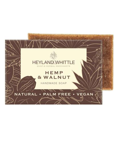 heyland and whittle hemp and walnut soap