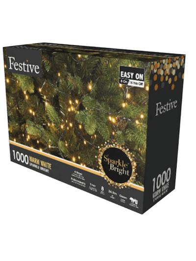 festive 1000 warm white lights