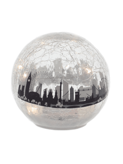 festive battery operated London scene crackle ball