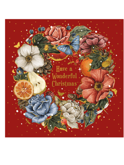 the art file decadence wreath greetings cards