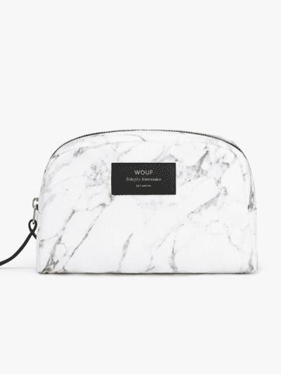 woof marble make up bag