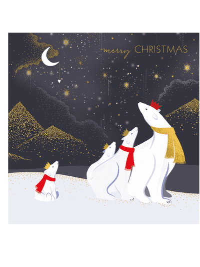 the art file polar bears in crown greetings cards