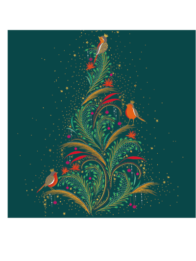 the art file robin and tree luxury greetings cards