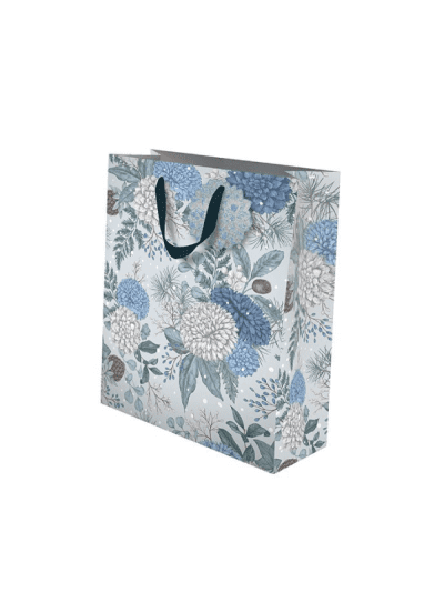 the art file sapphire and snow small gift bag