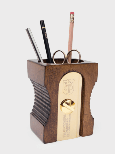 suck uk dark wood pencil sharpener